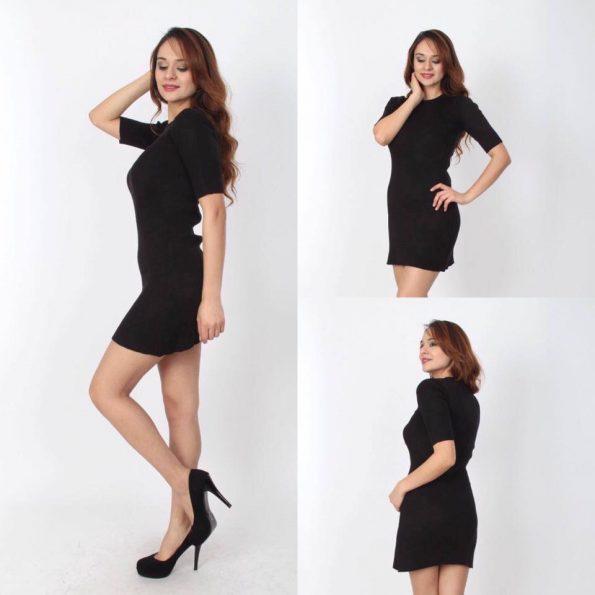 Черна къса рокля