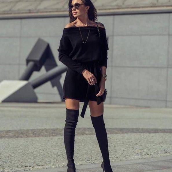 """""""Madonna"""" рокля в черно"""