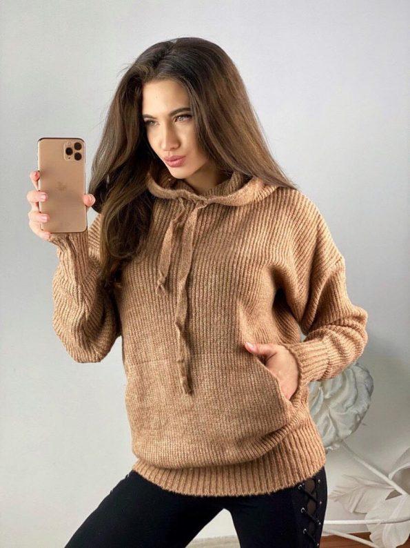 """SCANDAL"" Пуловер в кафяво"