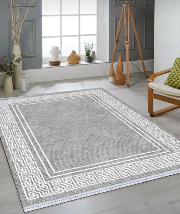 Бяло-черно килимче