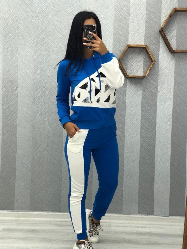 """""""REE0014""""Спортен комплект в синьо и бяло"""