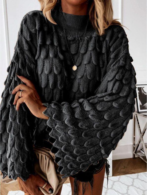 """""""SP003""""Пуловер в черно"""