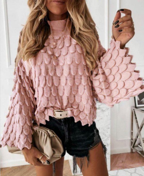 """SP003""Пуловер в розово"