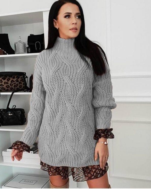 """""""SP001""""Пуловер в сиво"""