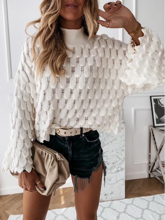 """SP003""Пуловер в бяло"