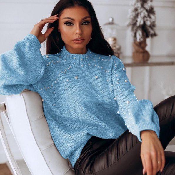 """SP006""Пуловер в синьо"