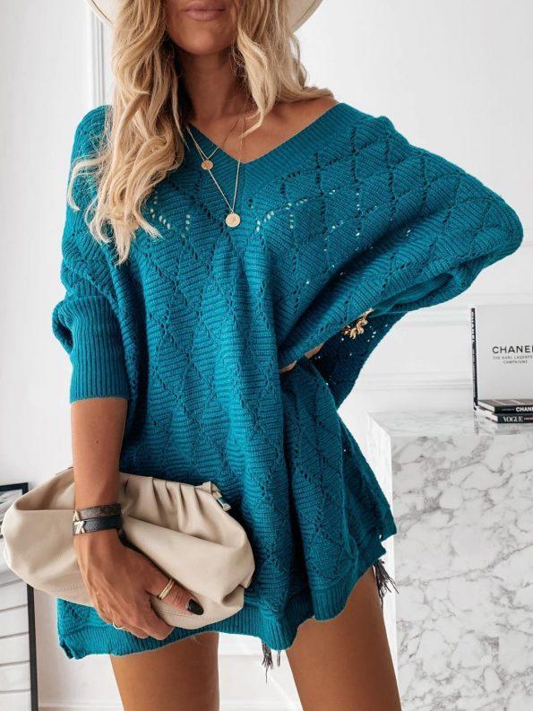 """SP007""Пуловер в синьо"