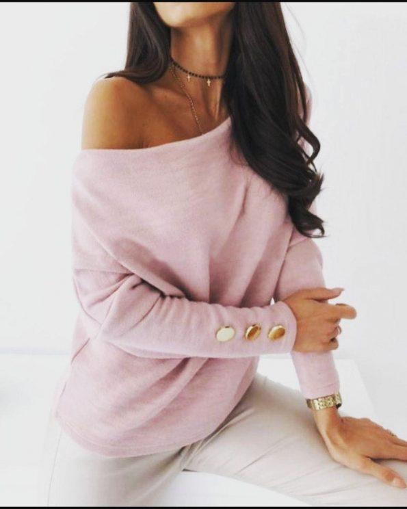 """SP0012""Пуловер в розово"