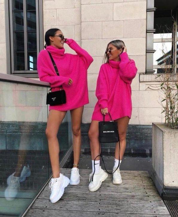 """""""SRO-008"""" Пуловер в розово"""