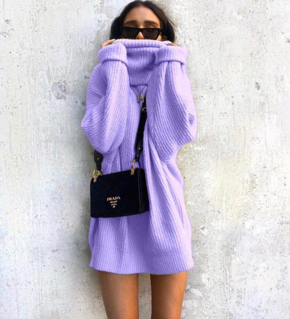 """SRO-008"" Пуловер в лилаво"