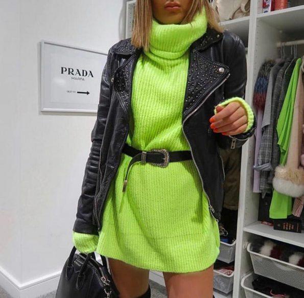 """""""SRO-008"""" Пуловер в зелено"""